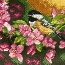 Dimensions | Chickadee In Pink/Пташка в розовом. Размер - 12,7 х 12,7 см