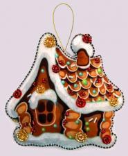 Butterfly | Игрушка из фетра Пряничный домик. Размер - 10 х 11 см