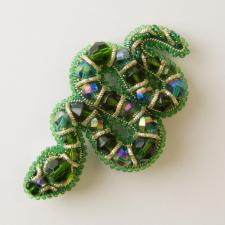 """Набор для изготовления броши Crystal Art """"Змея"""". Размер - 5 х 8,5 см"""