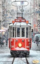 Тэла Артис | Зимний трамвай. Размер - 24 х 38 см