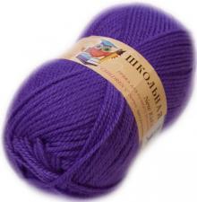 Пехорка | Пряжа Школьная (100% акрил) 50г/150м цв.078 фиолетовый