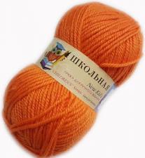 Пехорка | Пряжа Школьная (100% акрил) 50г/150м цв.284 оранжевый