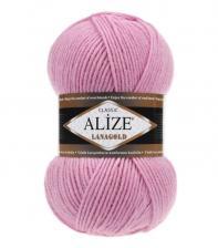 Пряжа для вязания Ализе LanaGold (49% шерсть, 51% акрил) 100г/240м цв.098 розовый