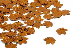 Пайетки Кленовый листок медь (140), 20 х 22 мм, уп. 25 шт