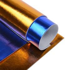 Набор листового фетра металлизированный IDEAL 1,4мм 20х30см арт.FLT-ME1 уп.2 листа цв.ассорти (синий,т.золото)
