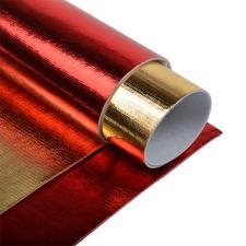 Набор листового фетра металлизированный IDEAL 1,4мм 20х30см арт.FLT-ME2 уп.2 листа цв.ассорти (красный,золото)
