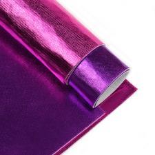 Набор листового фетра металлизированный IDEAL 1,4мм 20х30см арт.FLT-ME4 уп.2 листа цв.ассорти (фуксия,лиловый)