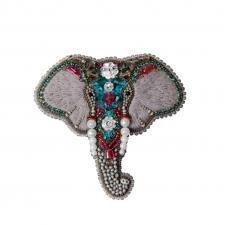 """Набор для изготовления броши Crystal Art """"Слон"""". Размер - 8,5 х 8 см"""