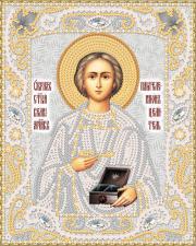 Маричка | Святой Вмч. Пантелеймон Целитель (серебро). Размер - 14 х 18 см