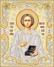 Маричка | Святой Вмч. Пантелеймон Целитель (золото). Размер - 14 х 18 см