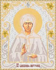 Маричка | Святая Блаженная Матрона Московская (серебро). Размер - 14 х 18 см