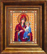 Чаривна мить   Икона Божьей Матери Иверская. Размер - 18,1 х 22,1 см