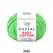 Пряжа Gazzal Baby cotton (60% хлопок, 40% акрил, 50 гр/165 м),3466 мелиса