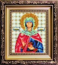 Чаривна мить   Икона Святая праведная Иоанна (Жанна, Яна). Размер - 9 х 11 см