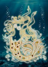Маричка | Волшебная русалка. Размер - 26 х 35 см