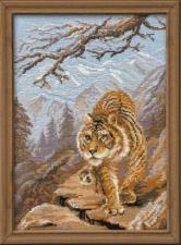Риолис | Тигр в горах. Размер - 30 х 40 см