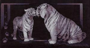 Панна | Тигриная любовь. Размер - 58,5 х 30,5 см