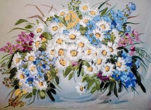 Рисуем лентами | Летние цветы. Размер - 29 х 21 см
