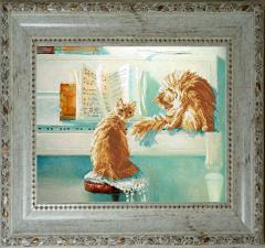 Краса и творчество   Дуэт (по мотивам картины М.С.Павловой). Размер - 36,2 х 29 см