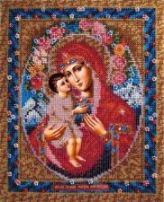 Вышивальная мозаика | Икона Божия Матерь Жировицкая. Размер - 19 х 24 см