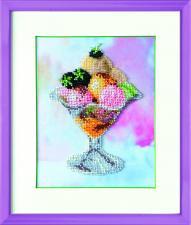 Чаривна мить | Мороженое с ежевикой. Размер - 14 х 18 см