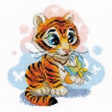 Риолис   Любопытный тигрёнок. Размер - 20 х 20 см