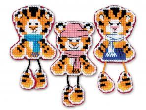 """Риолис   Магниты """"Тигрята"""". Размер - 5 х 9,5 см (3 шт)"""