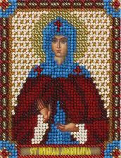 Панна   CM-1483 Икона Святая Преподобная Аполлинария. Размер - 8,5 х 10,5 см