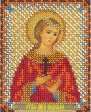 Панна   CM-1493 Икона Святая мученица Надежда Римская. Размер - 8,5 х 10,5 см