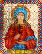 Панна   CM-1504 Икона Святая Великомученица Марина. Размер - 8,5 х 10,5 см