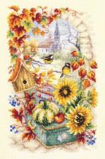 Чудесная игла | Яркая осень. Размер - 17 х 27 см
