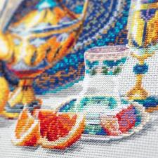 Чудесная игла   Яркие краски Марокко. Размер - 40 х 30 см
