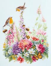Чудесная игла | Звонкие малиновки. Размер - 31 х 40 см