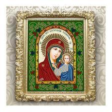 Вдохновение | Схема для вышивки бисером БГИ4001 Образ Пресвятой Богородицы Казанская. Размер - 20,5 х 25 см