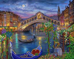 А-строчка   АК3-035 Венецианская луна. Размер - 32 х 26 см