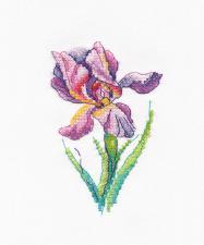 "Овен | Набор на водорастворимой канве ""Радужный цветок"". Размер - 7 х 11 см"