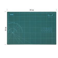 Maxwell premium   Коврик раскройный для пэчворка 3мм 45*30см двухсторонний трёхслойный