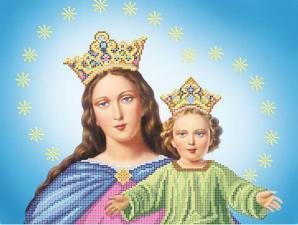 Дева Мария с Иисусом. Размер - 40 х 30 см.