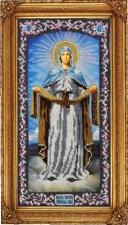 Икона Покрова Пресвятой Богородицы. Размер - 18 х 36 см.