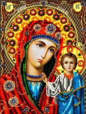 Икона Божией Матери Казанская. Размер - 19 х 26 см.