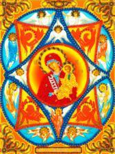 Икона Неопалимая Купина. Размер - 19,5 х 26 см.