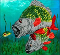 Под водой. Размер - 24,5 х 27 см.