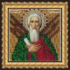 Икона Св. Апостол Андрей Первозванный(с акрил. рамкой). Размер - 6,5 х 6,5 см.