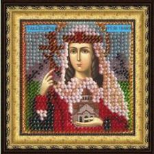 Икона Св.Блг.царица Грузии Тамара Великая (с акрил.рамкой). Размер - 6,5 х 6,5 см.