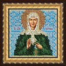Икона Св.Блж.Матрона Московская(с акрил. рамкой). Размер - 6,5 х 6,5 см.