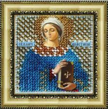 Икона Св.Вмч.Анастасия Узорешительница(с акр.рамкой). Размер - 6,5 х 6,5 см.