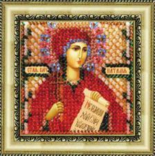 Икона Св.Вмч.Наталия(с акр.рамкой). Размер - 6,5 х 6,5 см.