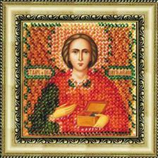 Икона Св.Вмч.Пантелеймон(с акр.рамкой). Размер - 6,5 х 6,5 см.