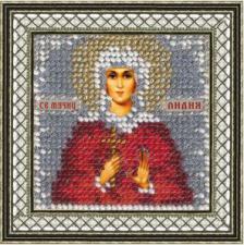 Икона Св.Лидия(с акрил. рамкой). Размер - 6,5 х 6,5 см.