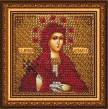 Икона Св.Муч.Ариадна Промисская(с акр. рамкой). Размер - 6,5 х 6,5 см.